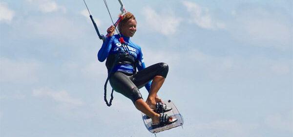 Female kitesurfer – Bibiana Magaji